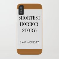 horror iPhone & iPod Cases featuring Horror by MrWhite