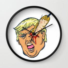 trump eats elote. Wall Clock
