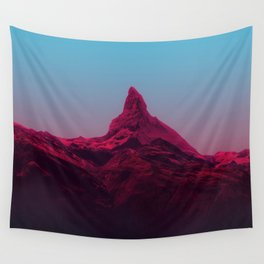 Pink mountains Wall Tapestry