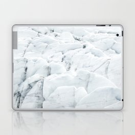 White winter glacier icelandic landscape photography Laptop & iPad Skin