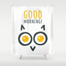 Morning owl Shower Curtain