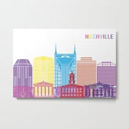 Nashville skyline pop Metal Print