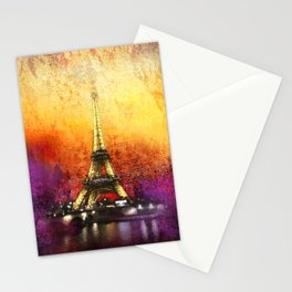 Eiffel Tower At Sunset Stationery Cards