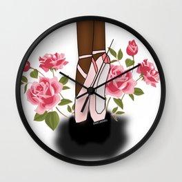 Black Ballerina Wall Clock