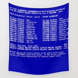 Bluescreen Wall Tapestry