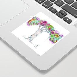 Rainbow Tree Huia Art Sticker