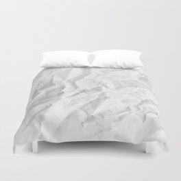 WRINKLED WHITE PAPER SHEET Duvet Cover
