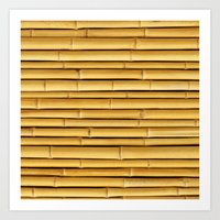 bamboo Art Prints featuring Bamboo by Patterns and Textures