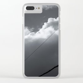 Layers of white clouds in the sky Clear iPhone Case
