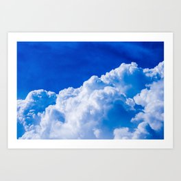White clouds in the blue sky Art Print
