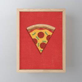 FAST FOOD / Pizza Framed Mini Art Print