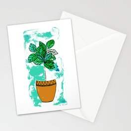 Indoor plant in pot Stationery Cards