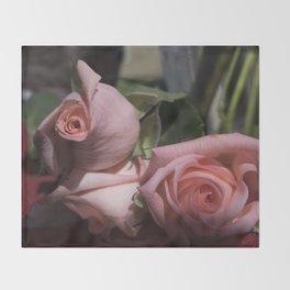 Valentine's Day Roses 25 Throw Blanket