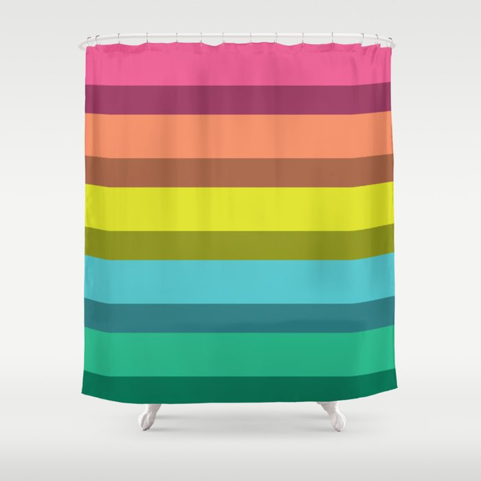 Accordion Fold Series Style C Shower Curtain