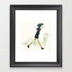 nega Framed Art Print