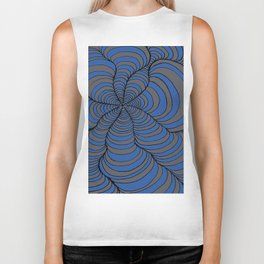 Tunnels Blue and Silver Biker Tank