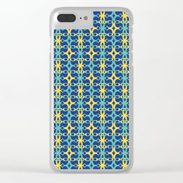 Indian Surrounded / The C Pattern 1 Clear iPhone Case