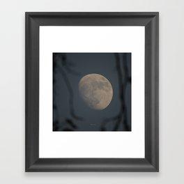 Moon at Three-Quarters Framed Art Print