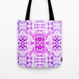 Floral Print - Magenta & Purple Tote Bag