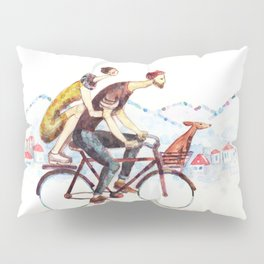 Pair of cyclists Pillow Sham