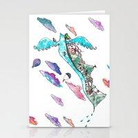rio de janeiro Stationery Cards featuring Flying Rio de Janeiro by Marina Papi