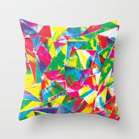 rave Throw Pillows featuring Rave Paint by Mariah Williams