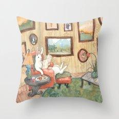 The Art Collector Throw Pillow