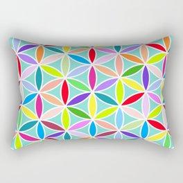 Flower of Life Large Pattern – Multicoloured Rectangular Pillow