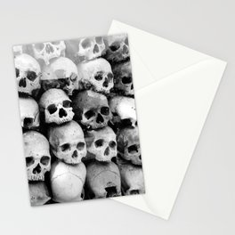 UNNESSASARY SACRIFICES // Skulls of Cambodia Killing Fields Stationery Cards