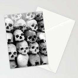 UNNESSASARY SACRIFICES // Skulls of Cambodia Killing Fields Stationery Cards