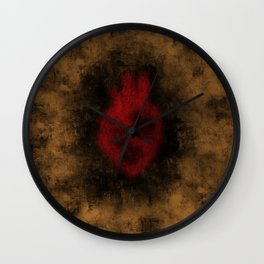 Heart Implosion Wall Clock