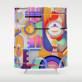visions of gideon Shower Curtain