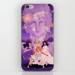Lesbian Pirates From Outer Space in Fallen Gods Cover iPhone Skin