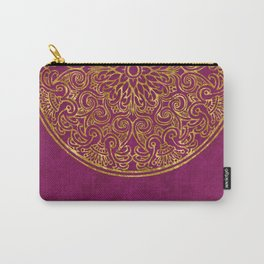 Shimmering Gold Ornament on Red Carry-All Pouch