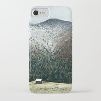 cabin iPhone & iPod Cases featuring Cabin in the woods by General Design Studio