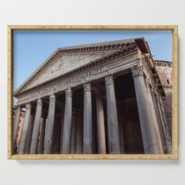 Pantheon holy temple in Rome - Italy Serving Tray