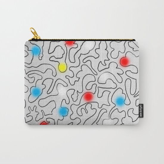 Puzzle with Spraypaint - Primary Colors Carry-All Pouch