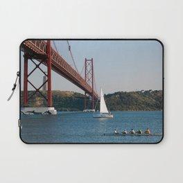 Lisbon Bridge 25 abril Laptop Sleeve