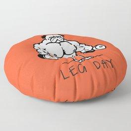 Never Skip Leg Day Floor Pillow