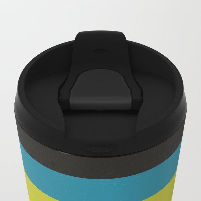 Retro Camera Color Palette Metal Travel Mug