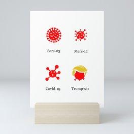 Golden-Haired Virus Mini Art Print