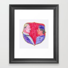 We are brothers. Framed Art Print