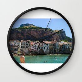 Cefalù Beach Wall Clock
