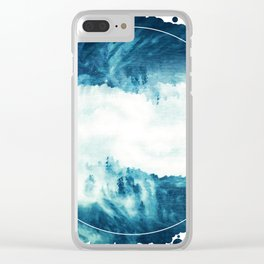 Abstract Sea Storm Clear iPhone Case
