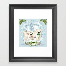Snow globe bears Framed Art Print