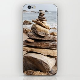 Natural Beach Rock Formation Coastline Yoga Earth Peace Zen Fine Art Print iPhone Skin