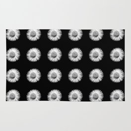 Fleabane B and W Rug