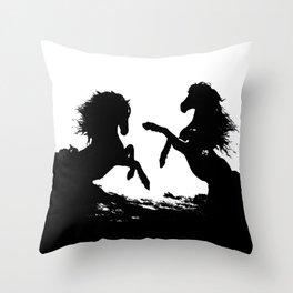 Wild horses 1 Throw Pillow