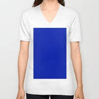 pantone V-neck T-shirts featuring Blue (Pantone) by List of colors