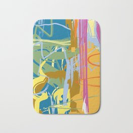 Web Maze | Pastel Abstract Art | Abstract art Prints Bath Mat